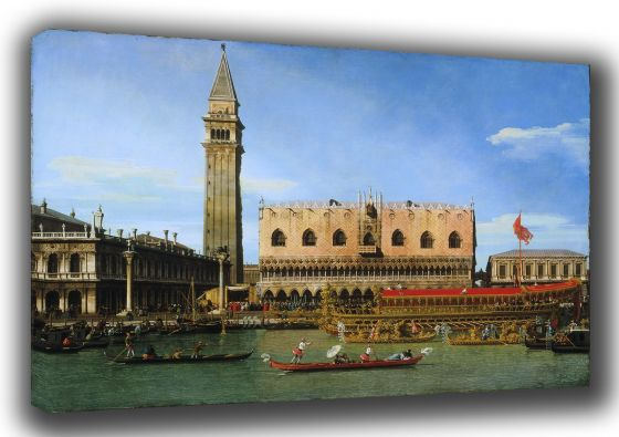 Canaletto: The Bucintoro at the Molo on Ascension Day. Fine Art Canvas. Sizes: A3/A2/A1 (003331)